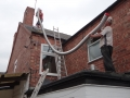 Flue being installed